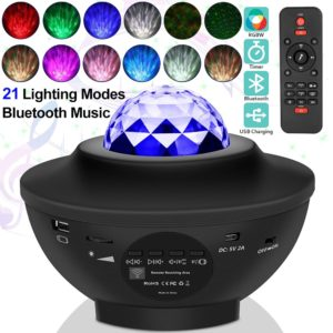 Galaxy Light Projector With Bluetooth Speaker