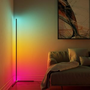 Minimalist LED Corner Floor Lamp