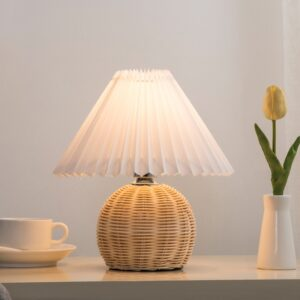 Rattan Table Lamp – Boho