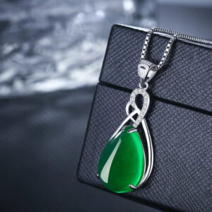 Jade Necklace – Silver