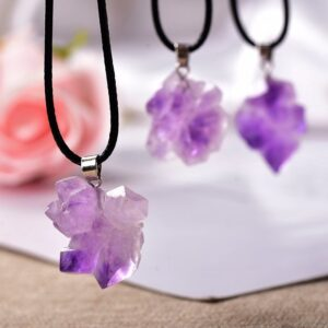 Raw Amethyst Necklace Pendant